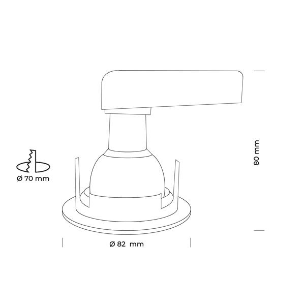 Schéma Kit led PLUTON- Spot encastré IP65 RT2012 BBC adapté salle d'eau