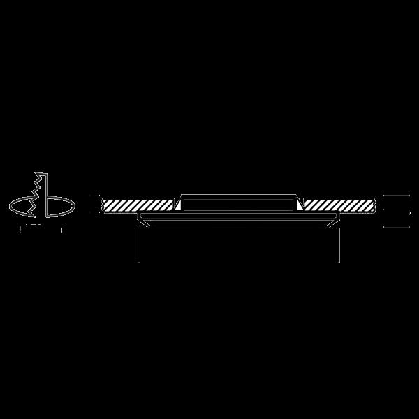 Schéma MINI-COB – Montage sur plaque de plâtre type BA13 - Spot encastré Led sous isolant RT 2012 / BBC