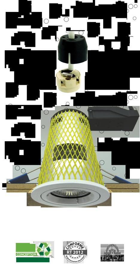Système MBF Protect - spot encastré LED RT2012 BBC sous isolants