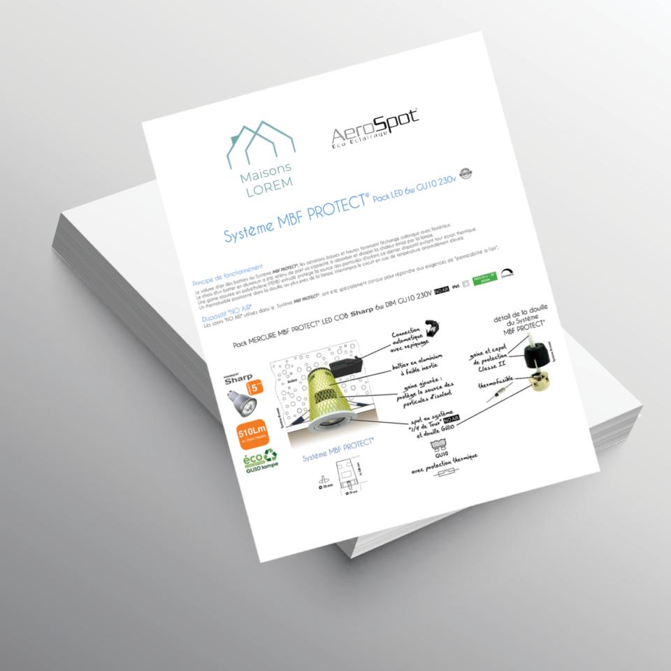 Documentation Constructeur de Maisons Individuelles - AeroSpot®, fabricant français de spots encastrés LED sous isolant RT2012