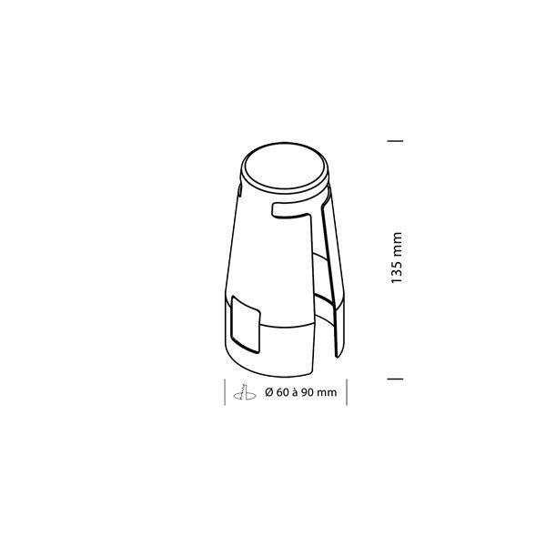 Schema-CRI - Capot recouvrable d'isolant, Aerospot, spot encastré BBC RT2012