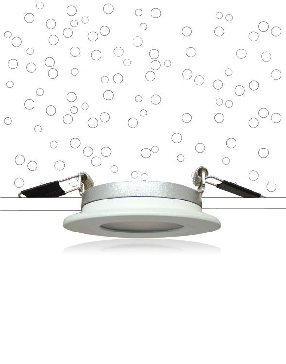 Spot MINI-COB – Montage sur plaque de plâtre type BA13 - Spot encastré Led sous isolant RT 2012 / BBC