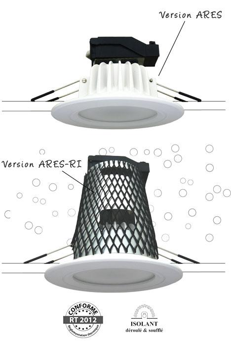 Système Ares/Ares-RI -Spot encastré RT2012 BBC