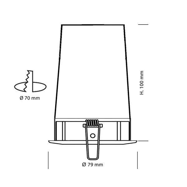 Schéma MBF - Spot encastré sous isolant conforme aux exigences du CPT 3693 - AeroSpot®