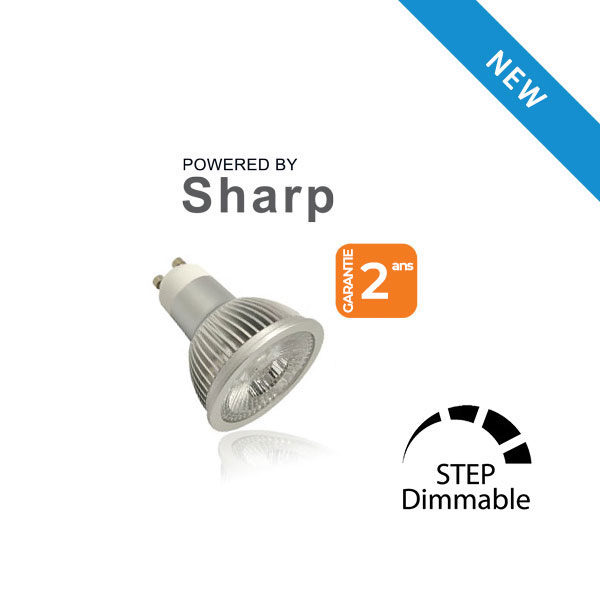 Lampe LED SHARP 6W GU10 230V STEP-DIMMING