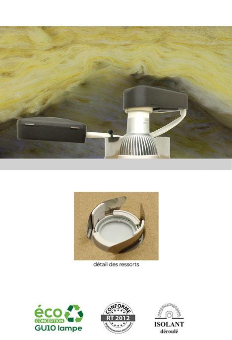 Mercure ISD - Spot encastré sous isolant déroulé BBC RT 2012