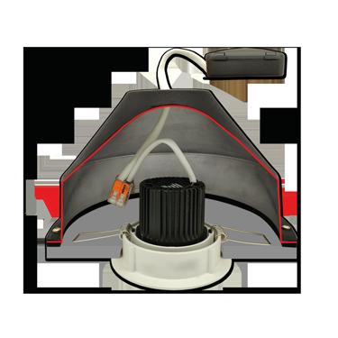 CAP CR – Capot Universel pour Spots encastrés sous isolant conforme RT2012