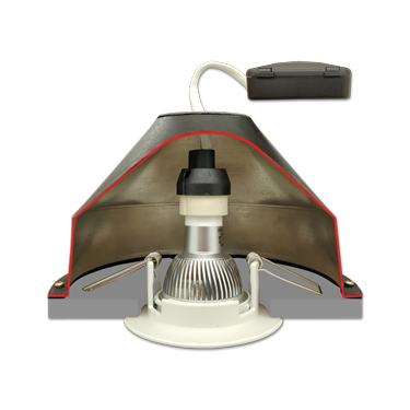 CAP GU10 NF – Capot de Spot conforme NF DTU 45.11