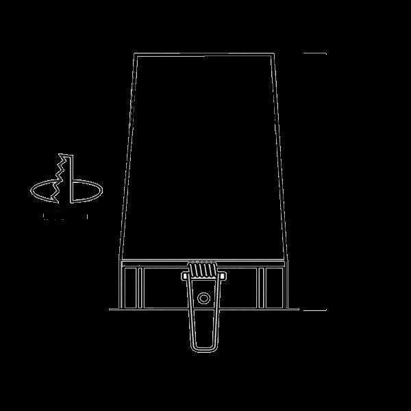 Schema Système MBF Pro - spot encastré sous isolant conforme RT 2012 et CPT3693