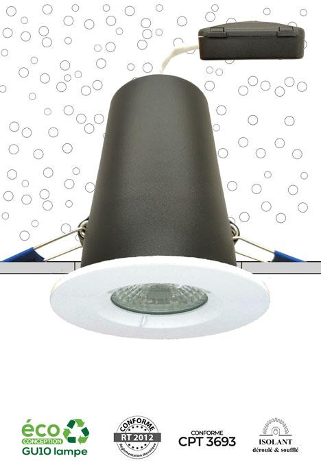 Système MBF Pro - Spot encastré recouvrable d'isolant conforme RT 2012 et CPT3693