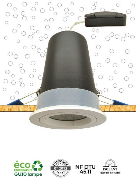 Système MBF OSB NF - Spot encastré sous isolant adapté pour une installation sur support bois - AeroSpot®