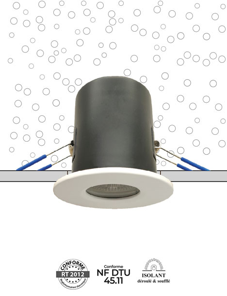 VEGA NF - Monobloc encastré sous isolant conforme RT 2012 et NF DTU 45.11