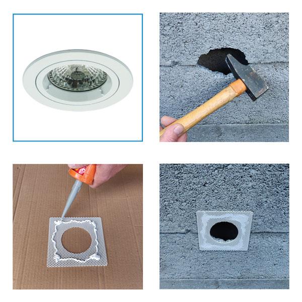 Spot MERCURE HDR - Spot encastré adapté pour une installation sur plafond hourdis